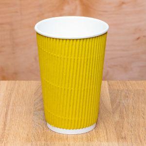 Гофростакан 500 мл жёлтый
