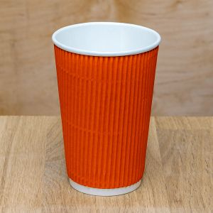 Гофростакан 500 мл помаранчевий