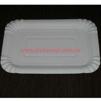 Тарелки бумажные ламинированные 20*14см 100шт