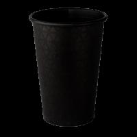 Стакан бумажный 500 мл ALL BLACK