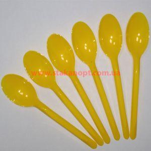Ложки столові 16см 100 шт жовті