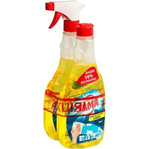 Засіб для миття скла SAMA Лимон 2х500 мл тригер+запаска