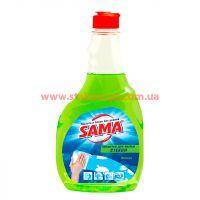 Средство для мытья стекла SAMA 500 мл Яблоко запаска