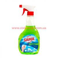 Средство для мытья стекла SAMA 500 мл Яблоко тригер