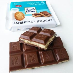 Шоколад RITTER SPORT Haferkeks+Joghurt Вівсяне печиво + йогурт 100 г