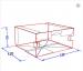Упаковка картонна снек бокс для їжі МАКСІ БІЛА 130*120*60 мм (Д*Ш*В) 50 шт