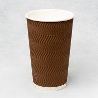 Гофростакан Ripple 500 мл коричневий