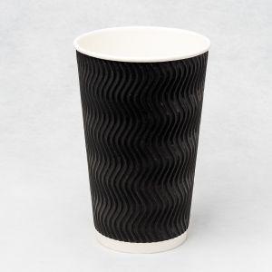 Гофростакан Ripple 500 мл чорний