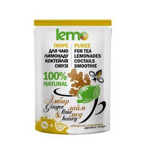 Чай концентрат LEMO імбир, лайм, мед сашет 40 г