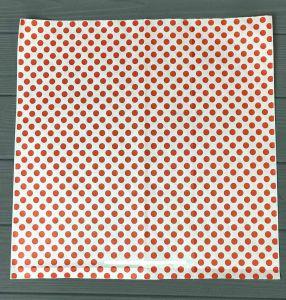 Папір обгортковий 320*320 мм 40 г/м2 червоний горох