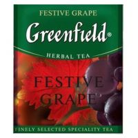 Чай фруктовый пакетированный Greenfield Festive Grape 100 шт Виноград