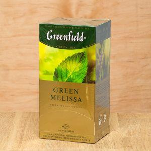 Чай зелений пакетований Greenfield Green Melissa 25 шт Меліса