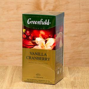 Чай чорний пакетований Greenfield Vanilla Cranberry 25 шт Журавлина