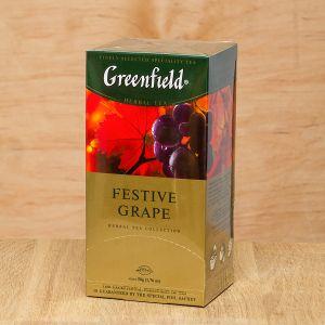 Чай фруктовий пакетований Greenfield Festive Grape 25 шт Виноград