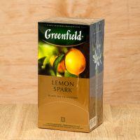 Чай черный пакетированный Greenfield Lemon Spark 25 шт Лимон