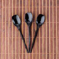 Ложки кофейные 13 см 100шт чёрные Bittner