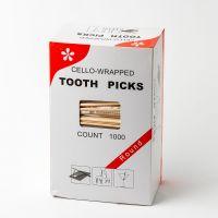 Зубочистки в целлофановой упаковке 1000шт
