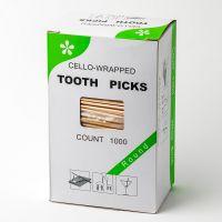 Зубочистки в целлофановой упаковке 1000шт с ментолом