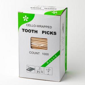 Зубочистки в целофановий упаковці 1000шт з ментолом