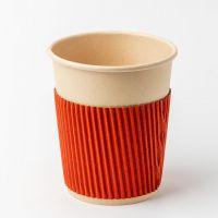 Термочехол разборной на стакан бумажный 250-340 мл оранжевый