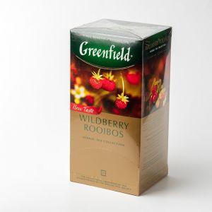 Чай фруктовий пакетований Greenfield Wildberry Rooibus 25 шт Суниця