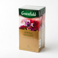 Чай черный пакетированный Greenfield Spring melody 25шт Чабрец с мятой