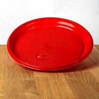 Тарелки пластиковые d=16,5 см 100шт оранжевые