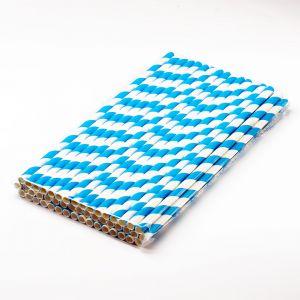 Трубочки паперові d=6 мм L=197 мм 50 шт блакитні