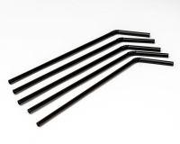 Трубочки с гофрой d=4.8мм L=210мм 1000шт черные