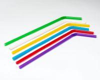 Трубочки с гофрой 21см 200шт цветные
