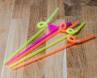 Трубочки з гофрой довгою 27см 100шт кольорові