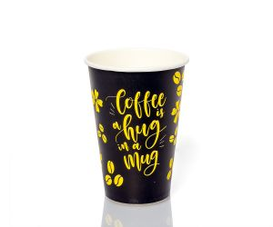Стакан паперовий 340 мл COFFEE IS A HUG