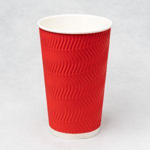 Гофростакан Ripple 500 мл красный