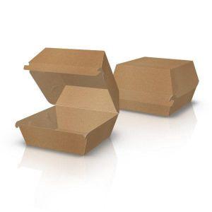 Упаковка картонная для бургеров МИДИ КРАФТ 50 шт