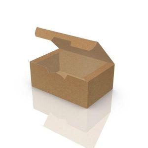 Упаковка картонна снек бокс для їжи МІНІ КРАФТ 115*75*45 мм (Д*Ш*В) 50 шт