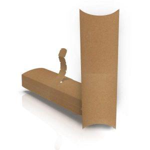 Упаковка картонна для шаурми, бурито, хот-догов КРАФТ 200*75*55 мм (В*Ш*Г) 50 шт