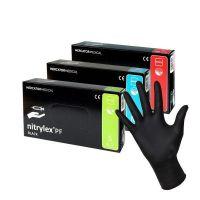 Перчатки одноразовые нитриловые черные NITRYLEX 100 шт S,M,L,XL