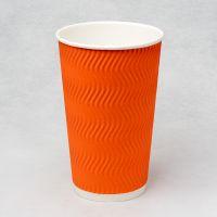 Гофростакан Ripple 500 мл помаранчевий