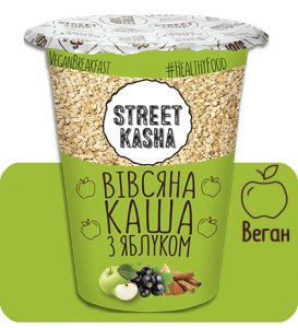 Каша Street Kasha Овсяная с яблоком 50г стакан