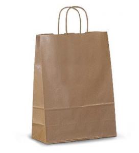 Пакет бумажный с ручками 250*150*350 мм 100 г/м2 КРАФТ 50 шт