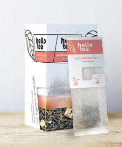 Чай зелений пакетований Hello Tea Жасминова Мрія 20 шт