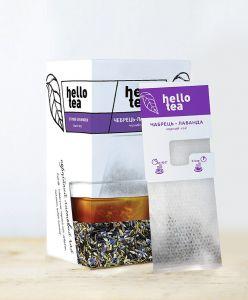 Чай черный пакетированный Hello Tea Чабрец-Лаванда 20 шт