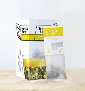 Чай трав'яний пакетований Hello Tea Імбир-Лимон 20 шт