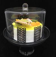 Подставка для торта с крышкой акрил 240*240*280 мм
