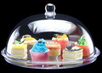 Подставка для торта с крышкой акрил 345*345*170 мм