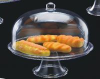 Подставка для торта с крышкой акрил 345*345*370 мм