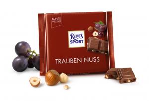 Шоколад RITTER SPORT Trauben Nuss з родзинками та фундуком 100 г