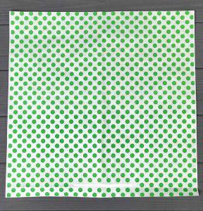 Папір обгортковий 320*320 мм 40 г/м2 зелений горох