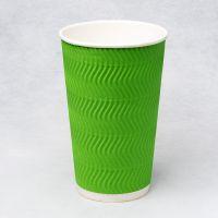 Гофростакан Ripple 500 мл зелений